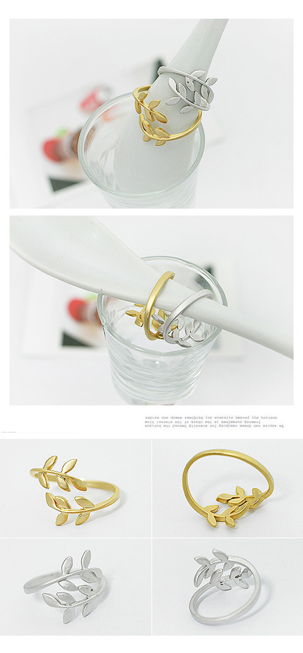 Leaf Design Rings