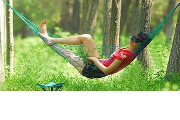 High Strength Material Hammock Camping Yard Hanging Bed for Outdoor Activities (Green)