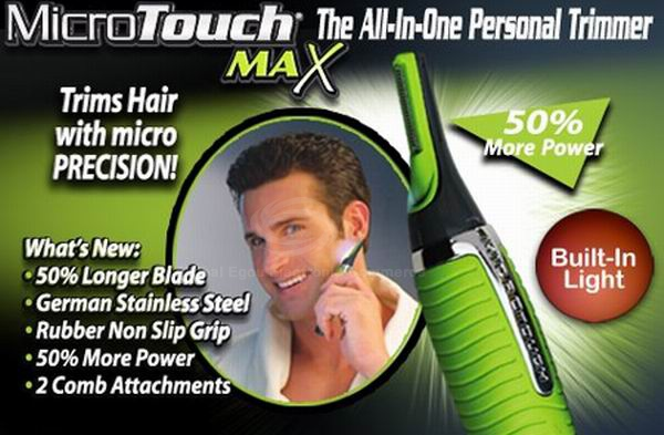 New Micro Touch Magic Max Personal Trimmer Multifunctional Hair Remover for Men - Green