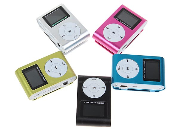 LCD Display Metal Clip Rechargeable Micro SD Card Reader FM Digital MP3 Player