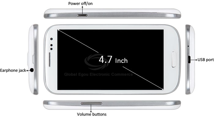 G9300 Android 4.1 3G Smartphone with 4.7 inch WVGA Screen Dual SIM MTK6577 Dual Core 1GHz GPS