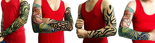 2PCS Free Size Chinese Dragon Design Bicycle Arm Oversleeves Long Style Cycling Tattoo Sleeves