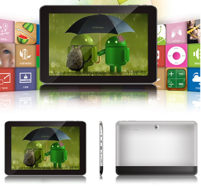Excelvan ET1002 Android 4.0 Tablet PC with 10.1 inch WXGA IPS Screen Exynos4412 Quad Core 1.4GHz 16GB HDMI Dual Cameras