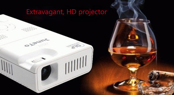 LZ-H100 90 Lumens Portable Android 4.1 4GB DLP LED Home Theater Projector Support AV/TF Card/HDMI