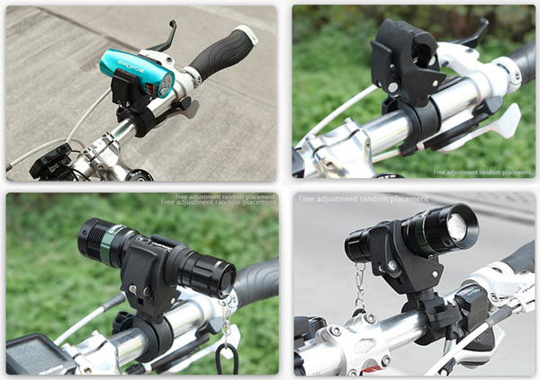 New Arrival Bicycle Bike Flashlight Torch Light Lamp Mount Clip Support Holder