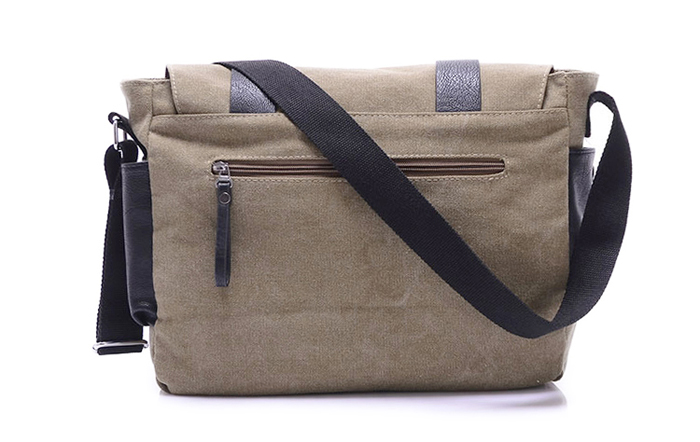 Concise Splice anf Metallic Design Men's Messenger Bag