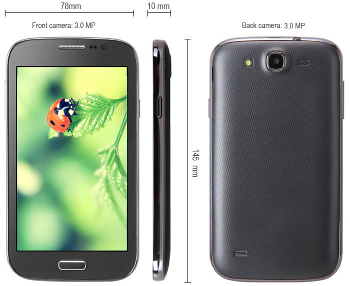 I9082 Android 2.3 Phablet with 5.0 inch WVGA Screen SP6820 1GHz Dual SIM WiFi