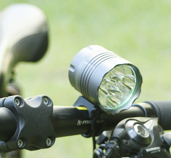 K5-N 5 x Cree XM-L T6 6000 Lumens 3 Modes Waterproof Headlight Bicycle Light with 3600mAh Battery Pack