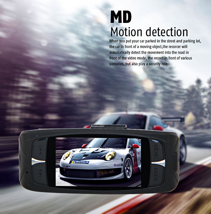G1WHT Car DVR Dashcam Full HD 1080P 2.7 inch TFT LCD Screen 140 Degree Wide Angle Lens