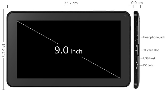 Soap 9 inch android tablet 1 5ghz 8gb