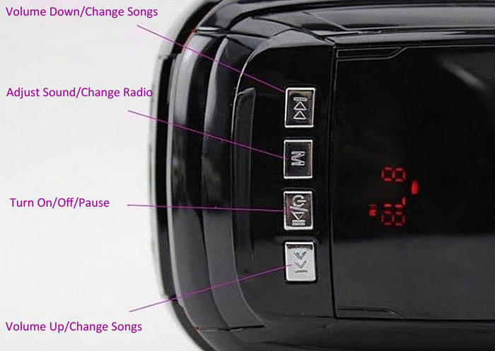 HY-T27 Multi Function Cartoon Car Speaker with TF/USB/FM Radio