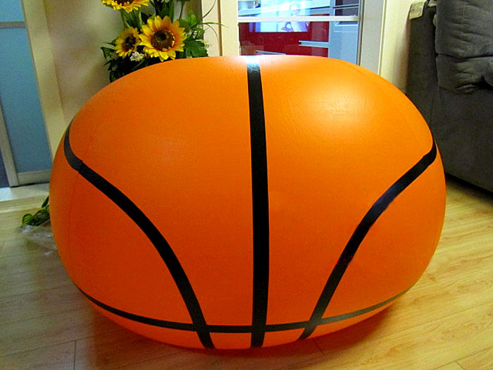 Inflatable Basketball Shape Sofa Seat Inflatable Couch For