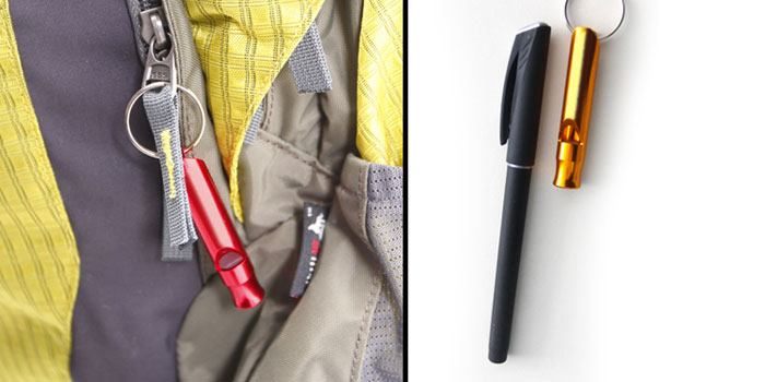 Durable Aluminum Alloy Long Whistle with Metal Ring for Camping Hiking Outdoor Survival