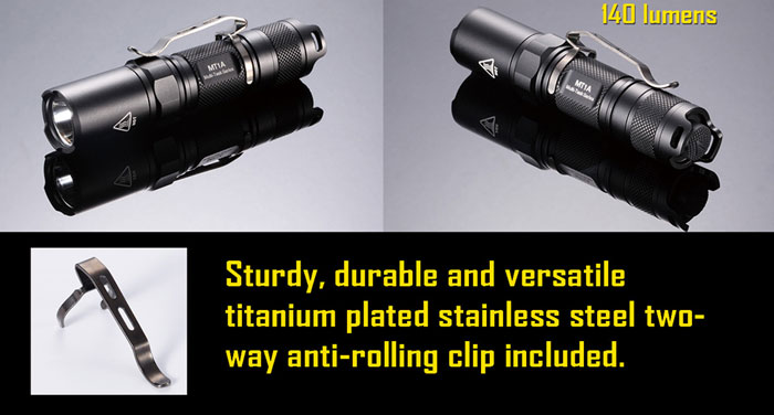 Nitecore MT1A  LED Torch Cree XP-G R5 140lm LED 6 Modes (1 x AA/1 x 14500 Battery)