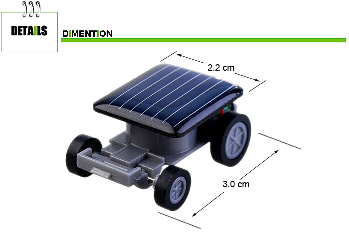 World's Smallest Solar Powered Mini Car Coin Size