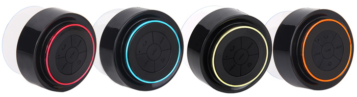 F-012 IP67 Waterproof Bluetooth Speaker with Suction Cup/Phone Hands Free Calling Built-in Microphone