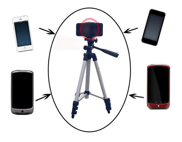 Universal Adjustable Cell Phone Stand Tripod Holder