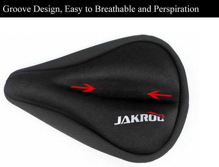 JAKROO Silicone Thicken 3D Bicycle Saddle Seat Cushion Cover for Mountain Bike Road Bike Folding Bike