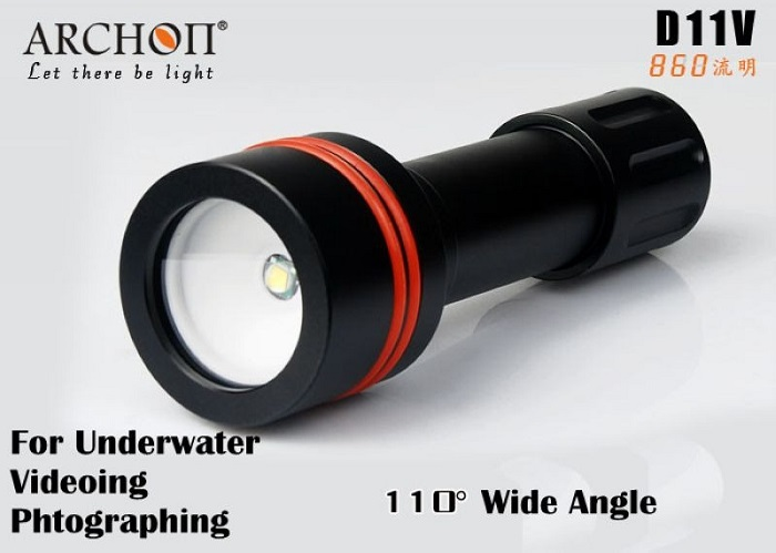 Archon D11V Diving Torch Cree XM-L U2 860lm 3-Mode 18650 / CR123 Battery Powered LED White Light Flashlight