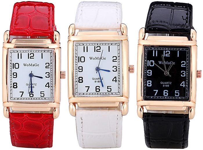 Fashionable Quartz Watch with Analog Indicate Leather Watch Band for Women
