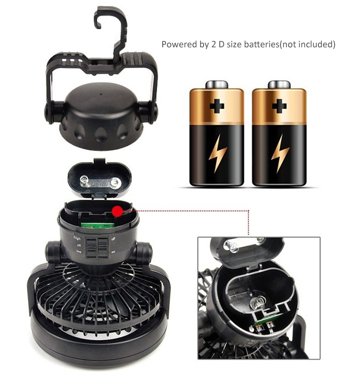 New Super Bright 18 Led Tent Light Lamp With Fan For