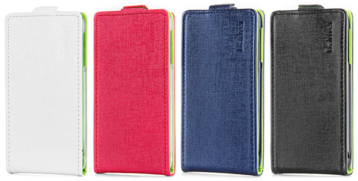 High-grade Contrast Color PU Leather and Plastic Wallet Case for Lenovo S650