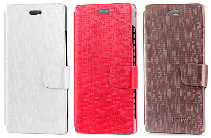 Water Cube PU Leather and Plastic Wallet Case for Doogee DG350