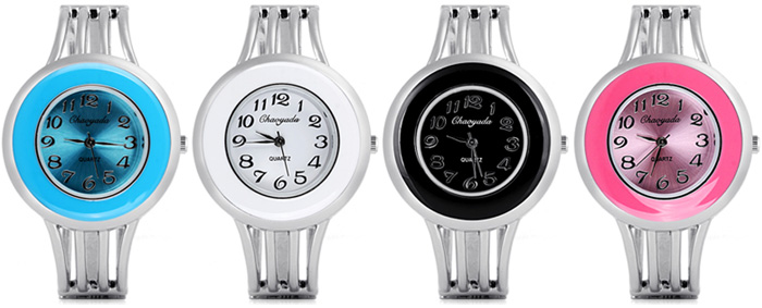 Water Resistant Stylish Quartz Watch with Analog Indicate Steel Watchband for Women