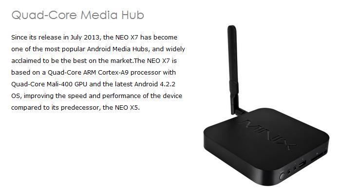 MINIX NEO X7 Quad Core Android 4.2 TV Box Mini PC 2GB DDR3 16GB ROM WiFi Bluetooth with UKB500 Russian Keyboard