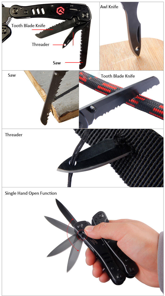 New Arrival G302B Outdoor Multi-function Pliers Multi Tools Pocket Plier