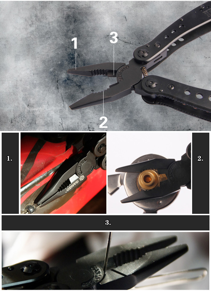 High Quality Ganzo G201B Multi Tool Pliers Convenient with Screwdriver Kit