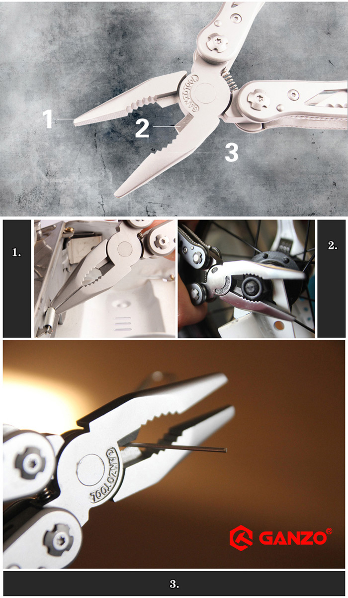 Ganzo G202 24 Tools in One  Multi Tool Pliers Convenient with Screwdriver Kit