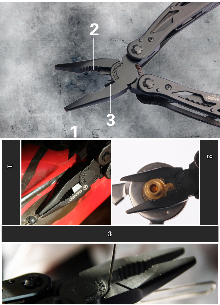 Ganzo G202B 24 Tools in One Hot Sale Multi Tool Pliers with Screwdriver Kit