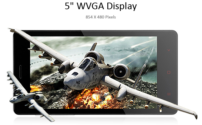 5.0 inch LKD F2 Android 4.4.2 3G Phablet with MTK6582 1.3GHz Quad Core 4GB ROM WiFi GPS WVGA Screen