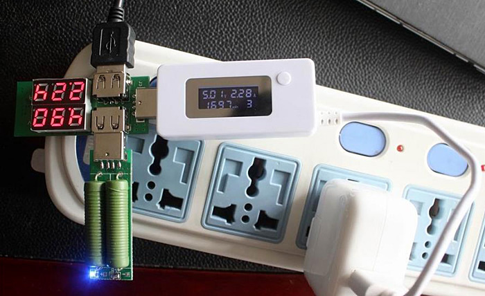 Mini USB LCD Display Voltage and Current Detector Battery Capacity Tester with USB Load Resistance for Phone Adaptor Mobile Power Bank