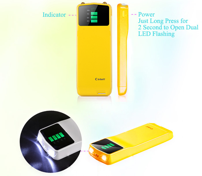 Cager B039 Digital Display 3000mAh Portable Mobile Power Bank with Micro USB Output for Samsung S4 i9500 i9505 Samsung Galaxy Note 2 Nokia Sony HTC etc.