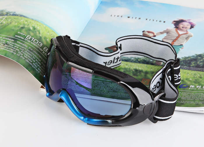 Sporty Anti-impact Bamboo Joint Framed Outdoor Activity Snow Goggles Eyeglasses