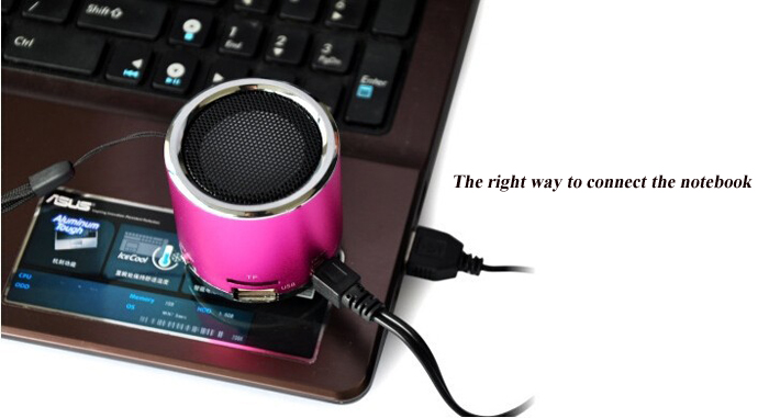 Z - 12 Ultra Mini Music Speaker Built-in Lithium-ion Battery Support USB TF Card Input