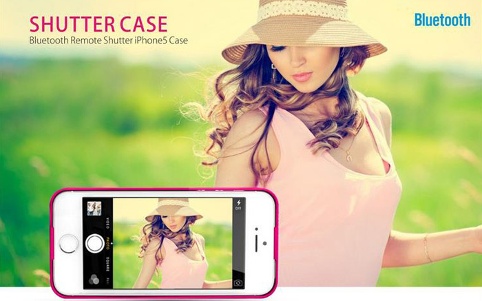 Wireless Shutter Case Protective Cover Case with Bluetooth Remote Control for iPhone 6 Plus - 5.5 inches