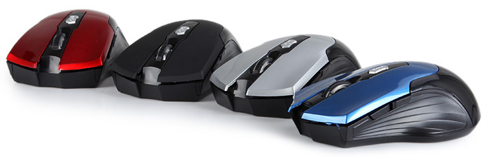 JITE 3239 6-Buttons 2.4GHz Wireless Optical Mouse with Adjustable DPI for Home Office