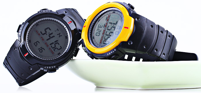 9040 Military LED Sports Watch Month Day Week Light Alarm