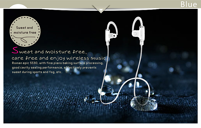 Roman S530 CSR8635 Chipset Wireless Sports Bluetooth Earbuds Earphone Stereo In-Ear Headphone with Mic for iPhone 6 5S 5C 5 4S Samsung Galaxy Note 3 Note 2