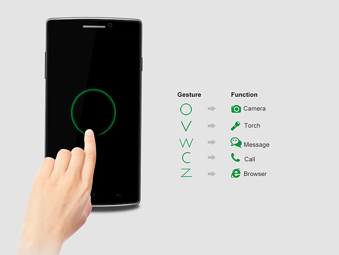 5.5 inch Elephone G5 Android 4.4 3G Smartphone with MTK6582 1.3GHz Quad Core 1GB RAM 8 GB ROM WiFi GPS Gesture Sensing HD IPS Screen
