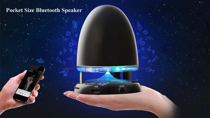 Bullet Shape MIC Wireless Bluetooth Music Speaker Built-in FM Radio with 7-Color Breathing Light for iPhone 6 / 6 Plus 5S 5C 5 4S 4 Computer Cellphone