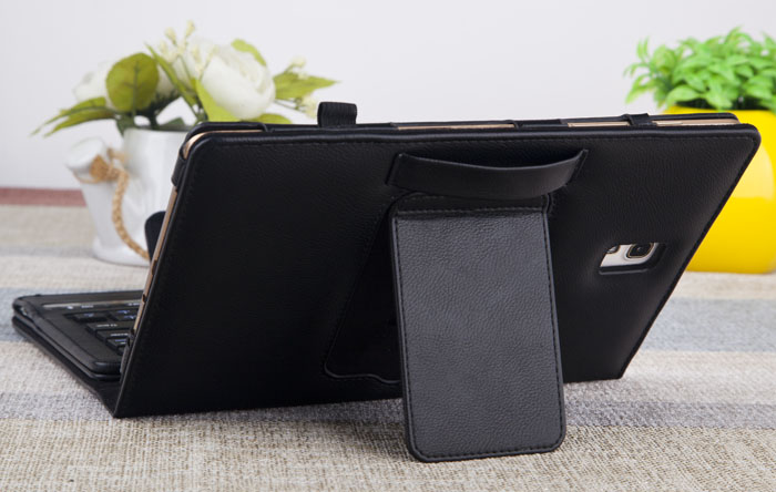 IS11-STS8 Leather Material Stand Bluetooth Keyboard Case Professional for Samsung Galaxy Tab S 8.4 inch T700 T705