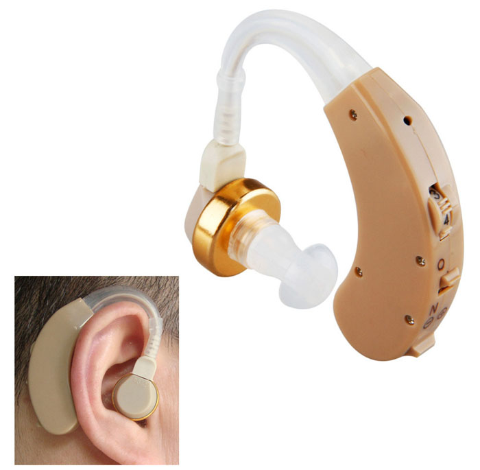 AXON F-139 Appealing Design BTE Wireless Sound Amplifier 4-Mode Volume Adjustable Hearing Aid