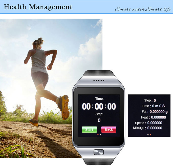 ZGPAX S28 Smart Watch Phone with 1.54 inch Touch Screen Single SIM Bluetooth Camera MP3 MP4