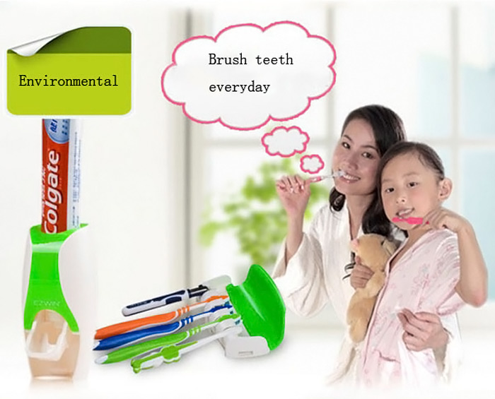 EZ BR01 Automatic Toothpaste Dispenser Squeezer Toothbrush Holder Set Bathroom Household Gadgets