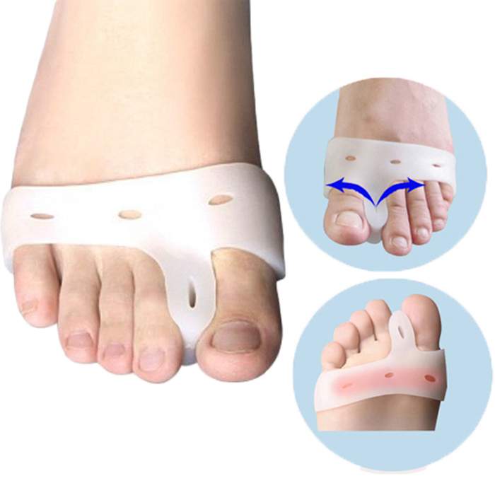 2Pcs Practical Gel Bunion Toe Spreader Foot Care Tools Healthy Gadgets