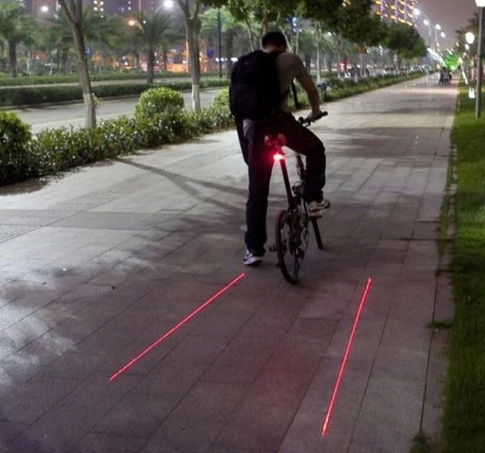High Quality Rechargeable 2 Laser Lamps Bike Taillight Super Bright 8 LEDs Bicycle Rear Safety Light Cycling MTB Supplies